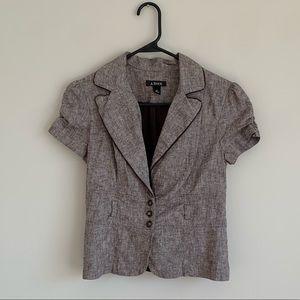 Tops - Brown Blazer Blouse